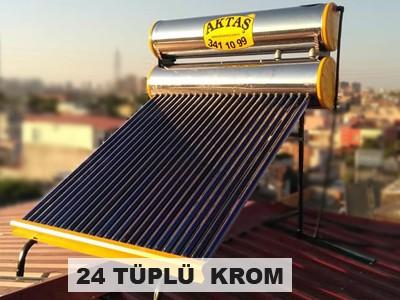 24 lü tüplü krom güneş enerjisi adana