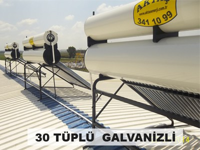 30 Tüplü Galvaniz Güneş Enerjisi Sistemi Adana