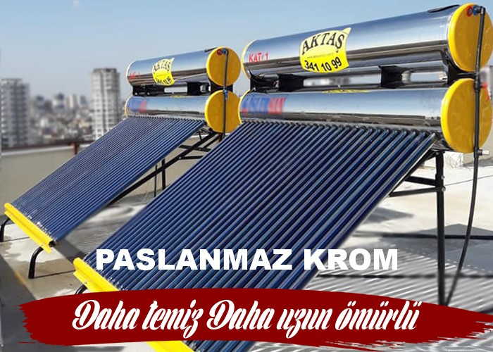 Paslanmaz krom güneş enerjisi adana