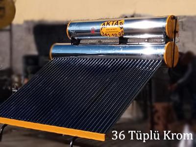 36 tüplü krom güneş enerjisi adana