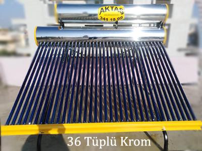 36 vakum tüplü paslanmaz krom güneş enerjisi adana